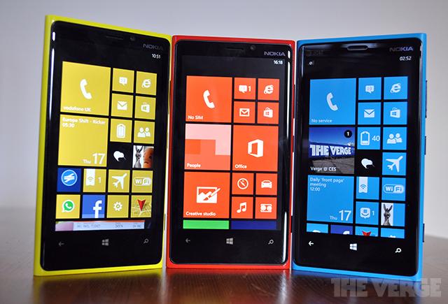 Nokia Lumia 920 Windows Phone 8 stock front