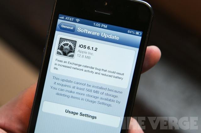 iOS 6.1.2 update