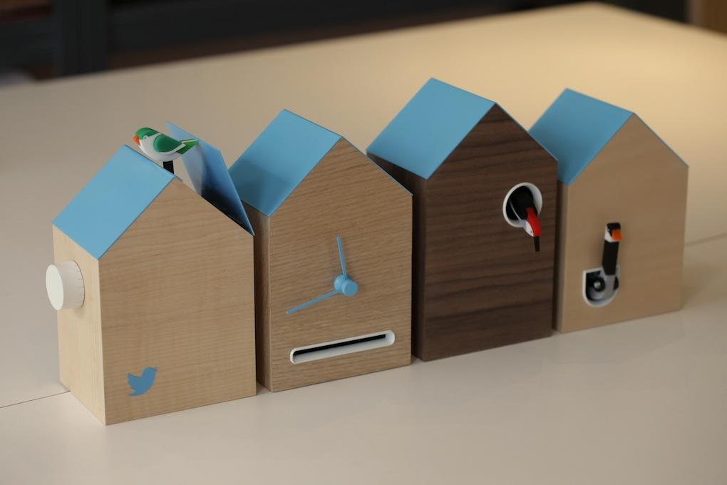 Flock Twitter clock