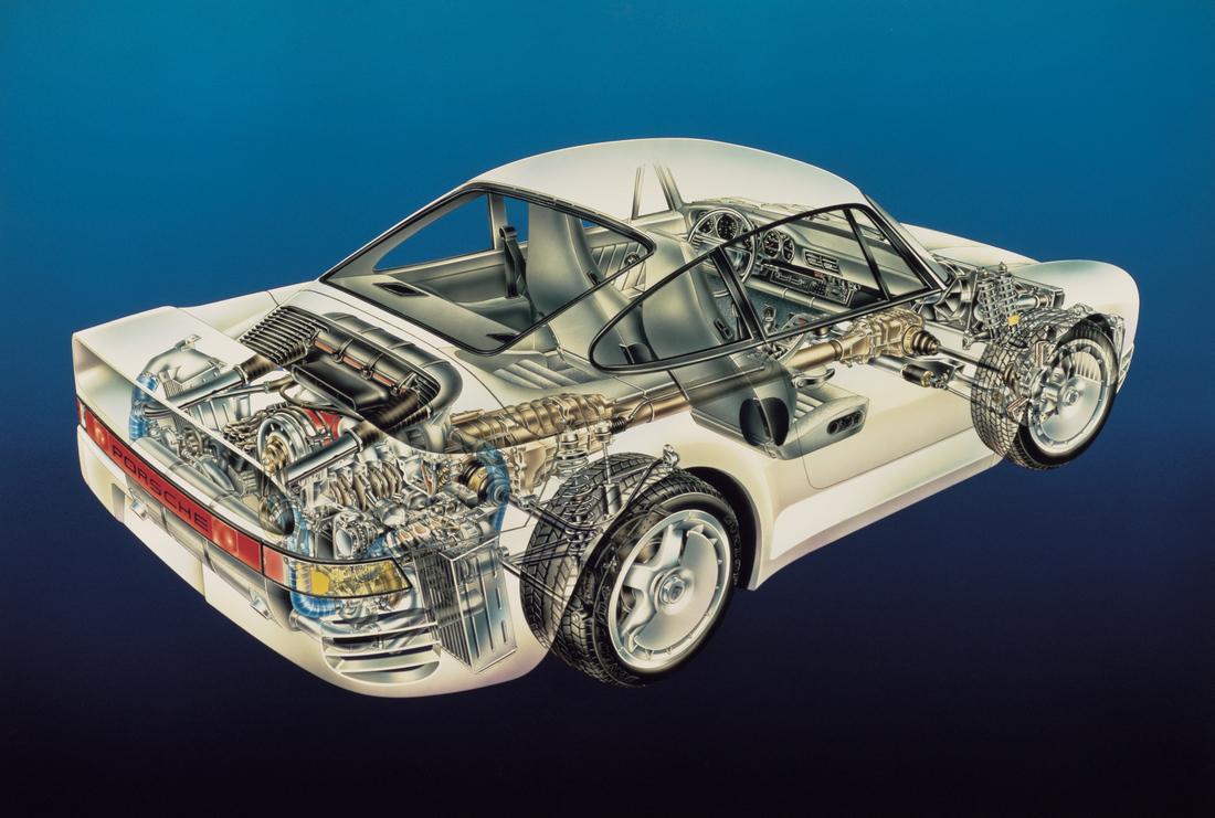 Porsche 959 lead
