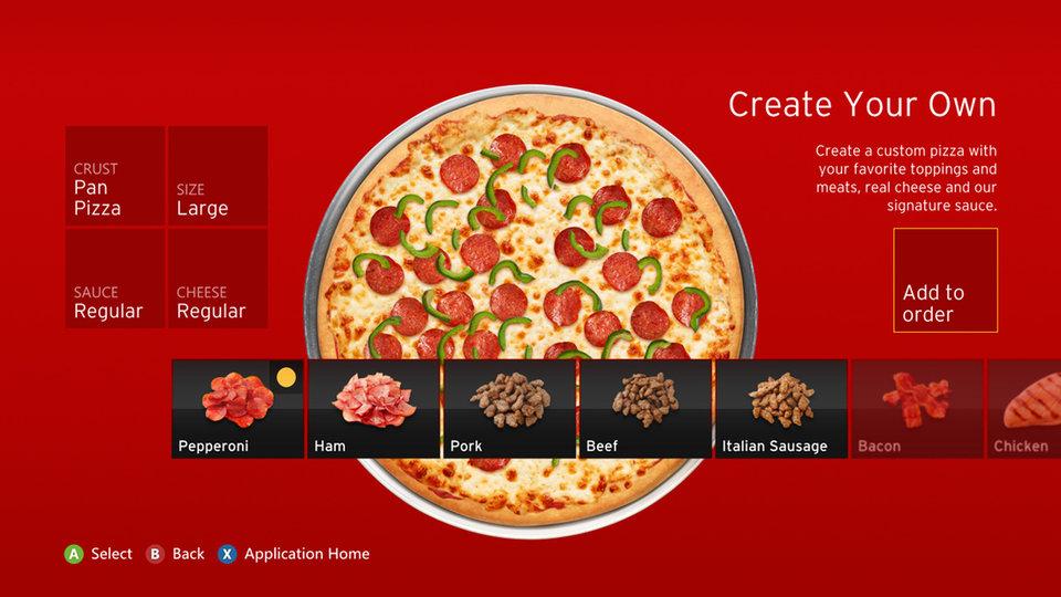 pizza hut xbox 360