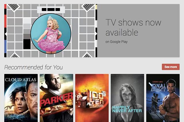 Google Play UK TV Shows