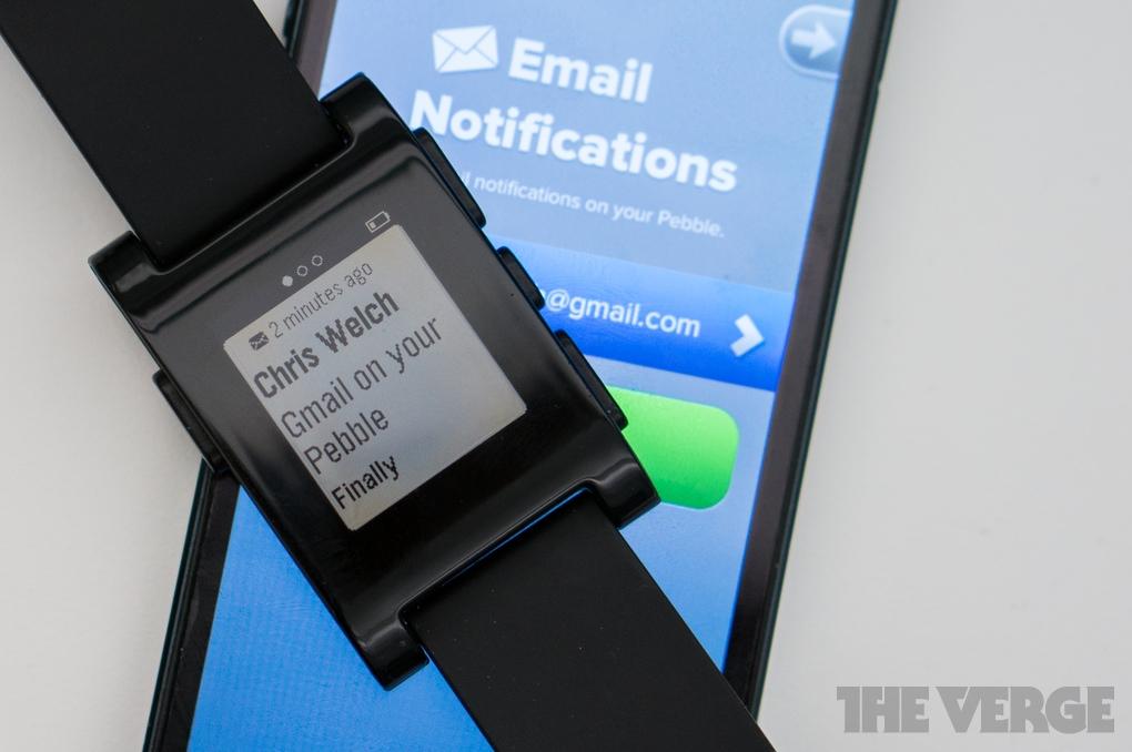 Pebble Gmail iOS stock