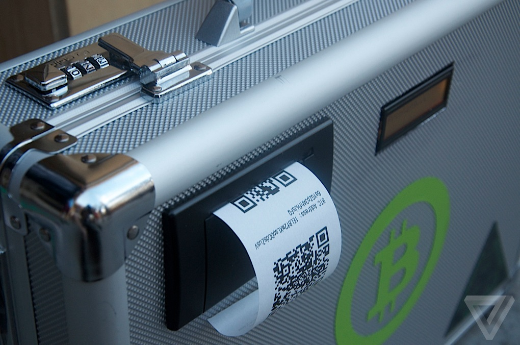 Bitcoin suitcase