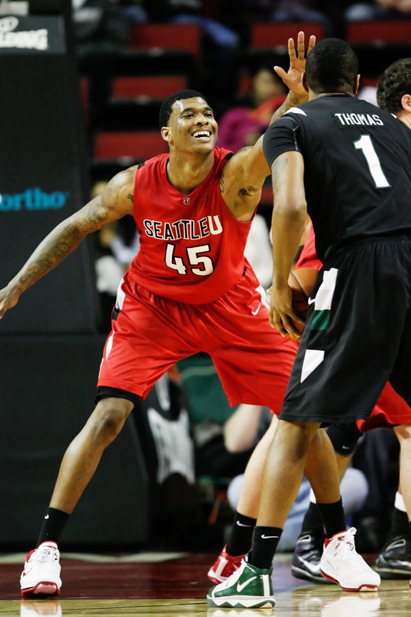 Returning to the starting lineup after four games coming off the bench due to poor effort in practice, SeattleU forward Charles Garcia looked far more calm and patient in a 93-80 victory over Portland State University.