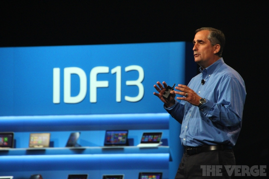 Intel CEO Bryan Krzanich IDF 2013 stock 1020