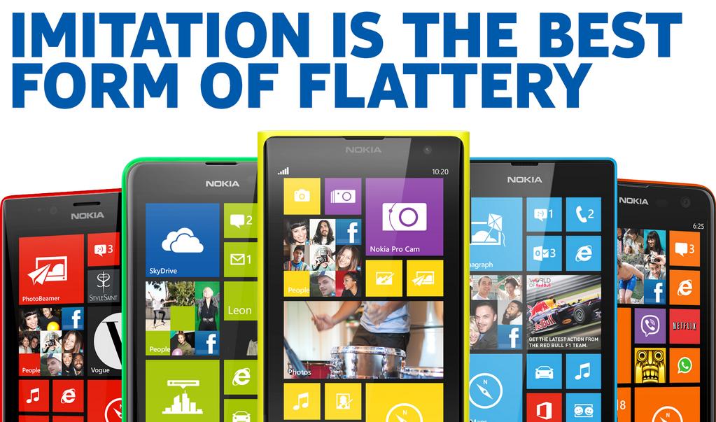 Nokia 'imitation' tweet