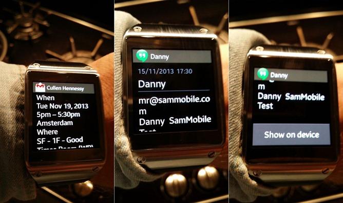 Galaxy Gear notifications sammobile