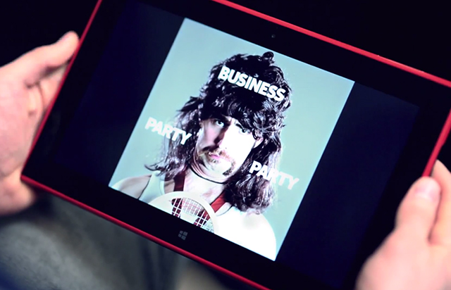 Lumia 2520 mullet