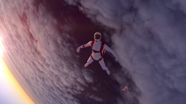sony skydiving ad