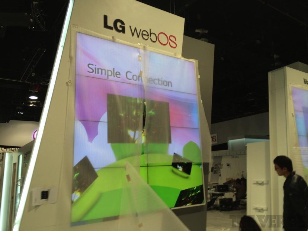 LG webOS TV CES show floor