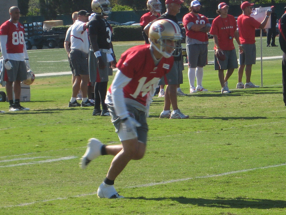 Kevin Jurovich during Wednesday's afternoon practice. (Photo: Samuel Lam)