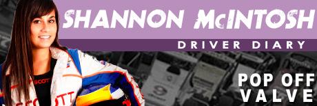 Shannon McIntosh Driver Diary Header