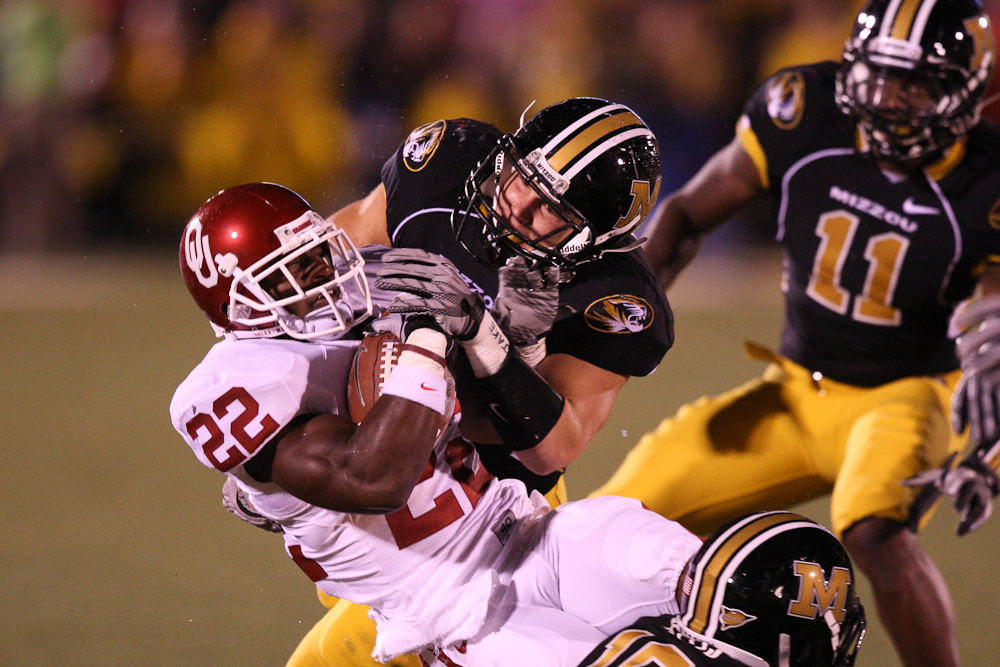 Missouri and Oklahoma: still conference rivals for a while longer. (Photo via Bill Carter.)