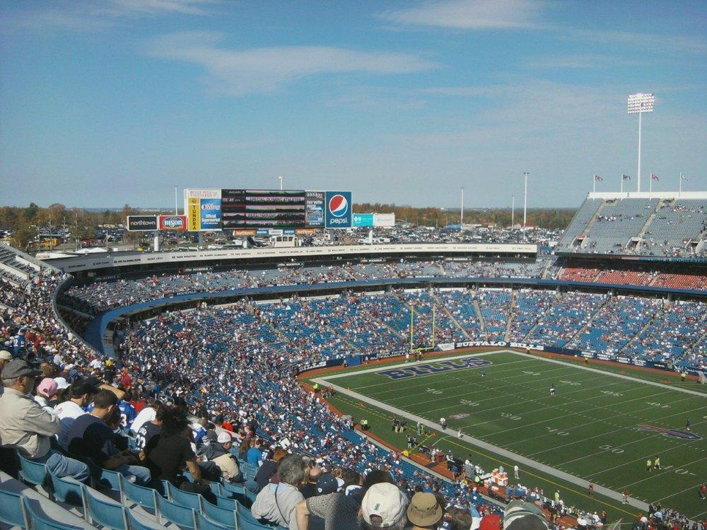OCTOBER 10, 2010: Half of the Buffalo Bills Wall of Fame at Ralph Wilson Stadium. (Buffalo Rumblings, Matt Warren)