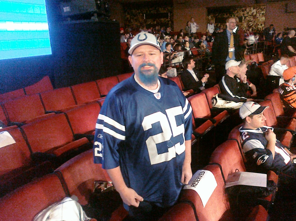 A Colts fan from Franklin, IN who flew all the way just to attend the draft.