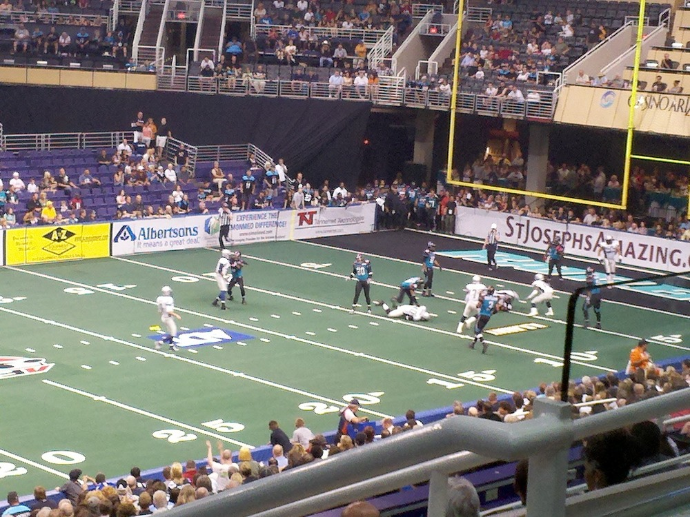 The Chicago Rush defeated the Arizona Rattlers 50-49 in front of 9,000 fans in Phoenix on Saturday, May 14, 2011. (Photo by Cory Williams)