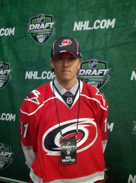 The Carolina Hurricanes selected Victor Rask from Sweden with their second round pick.