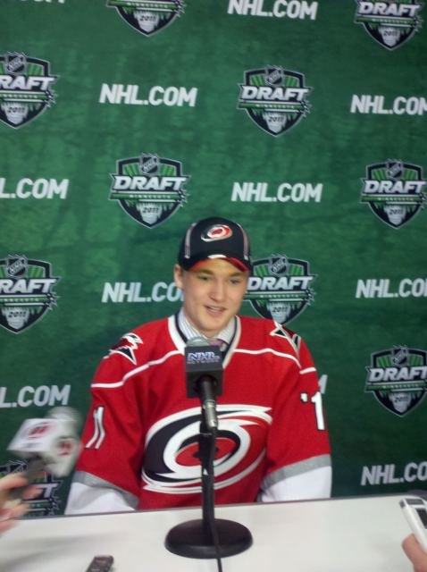 The Carolina Hurricanes selected Keegan Lowe with the 103rd overall pick in the NHL Entry draft.