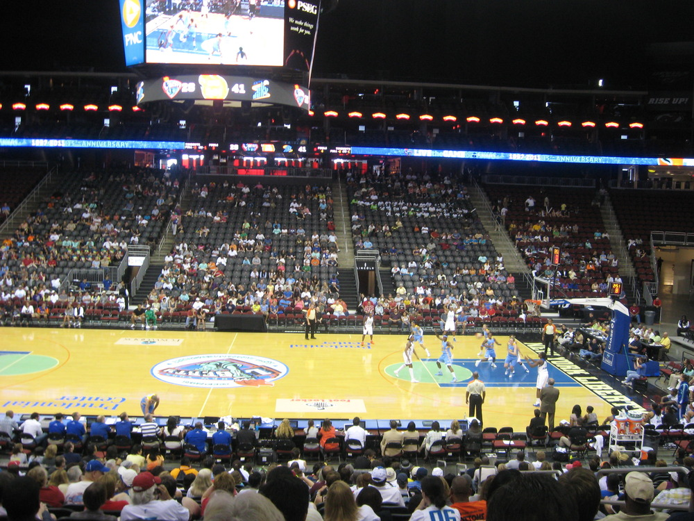 <em>Photo from the stands at the Prudential Center in New Jersey.</em>