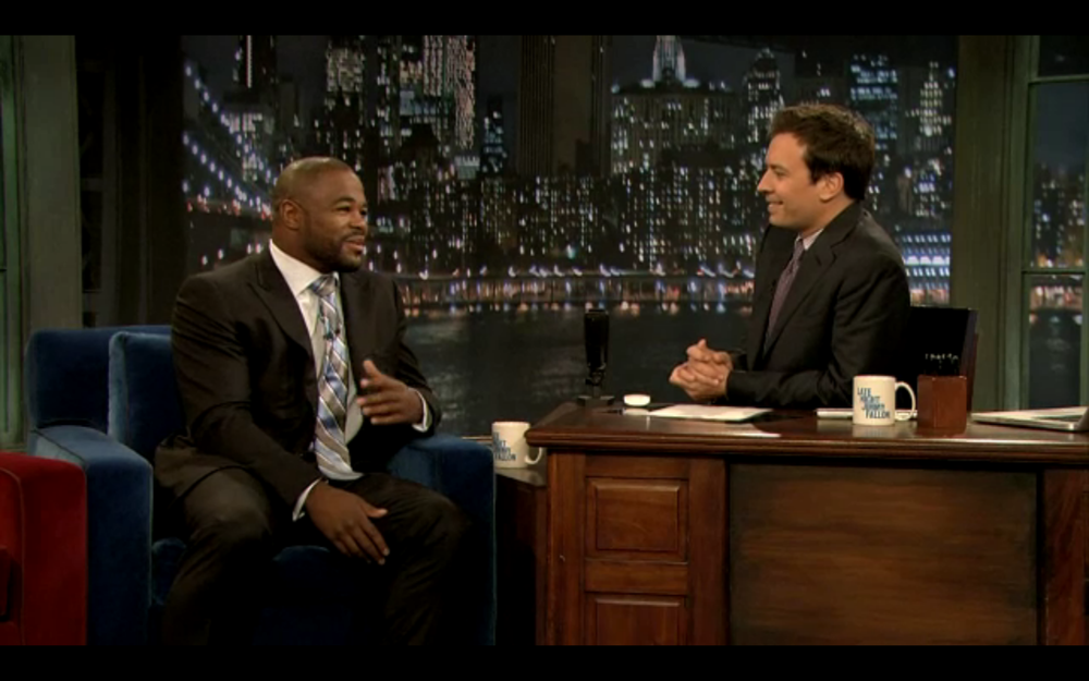 Rashad Evans on Late night with jimmy fallon