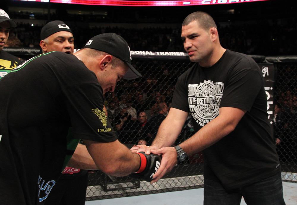 Junior Dos Santos and Cain Velasquez UFC 131