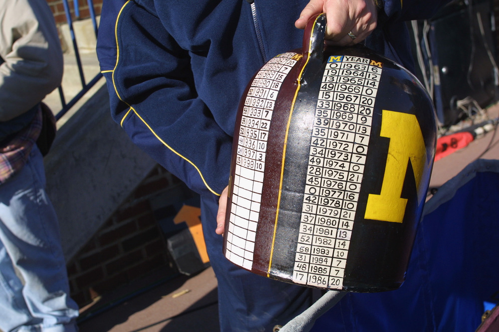 The Jug has resided in Ann Arbor since 2006. Can the Gophers bring it back to Minneapolis? (Photo by Danny Moloshok/Getty Images)