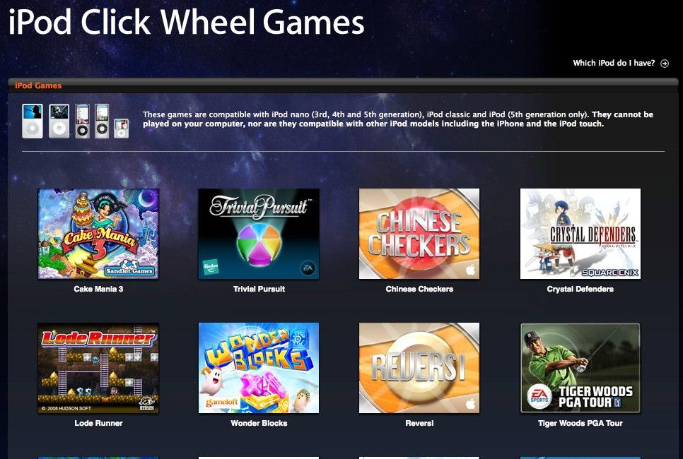 iPod Click Wheel Games