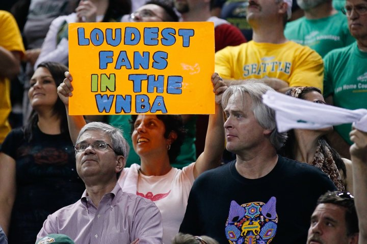 """In 2010, the """"Storm Crazies"""" came out in droves to support the Seattle Storm's run to a second WNBA title. But in 2011, the turnout wasn't quite as strong. <em>Photo by <a href=""""http://www.kailasimages.com"""" target=""""new"""">Kailas Images</a>. </em>"""