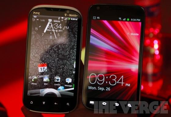Amaze and Galaxy S II Hands On