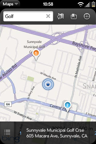 Bing Maps for webOS 2 and below