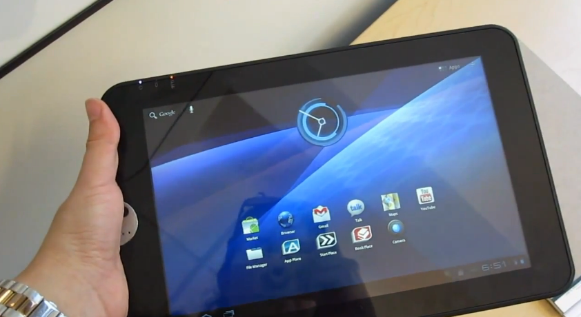 Toshiba Thrive tablet hands-on video