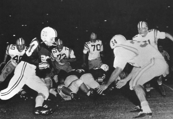"""The 1958 Alabama vs. LSU game was the first time The Crimson Tide was led by Paul W. Bryant on the sideline as well as the unveiling of the Tiger's """"Chinese Bandit"""" defense that would lead them to a National Championship. Photo: The Bryant Museum."""