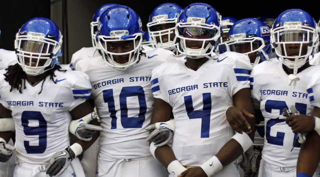 Georgia State Heads to the Lone Star state for the second time this season.  Photo Courtesy of Jason Getz/AJC