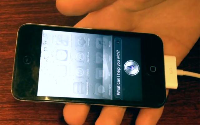 Siri on iPod touch