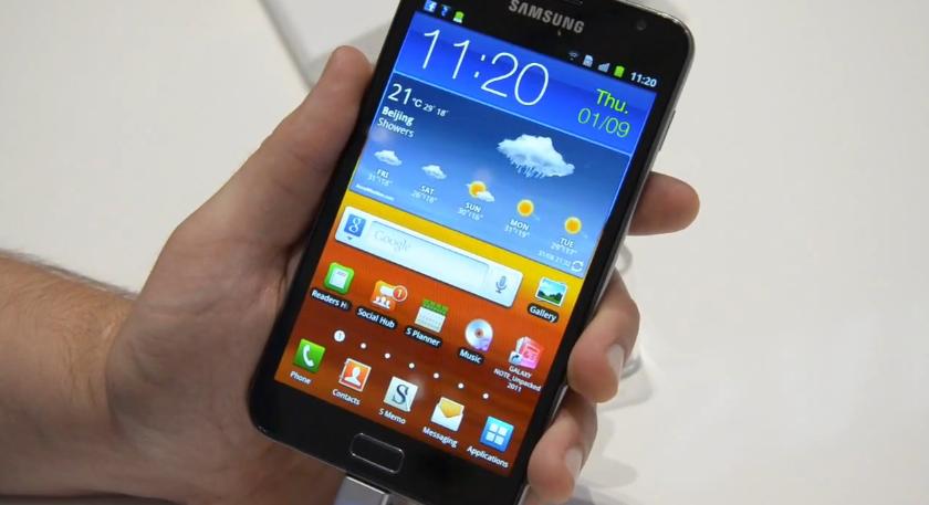 Samsung Galaxy Note hands-on