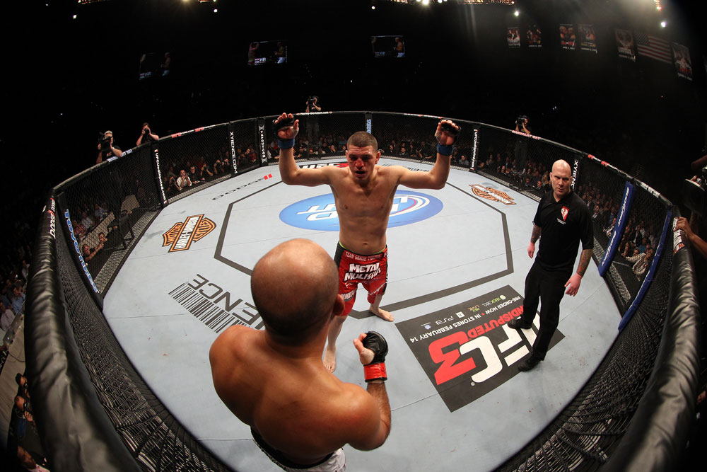 Nick Diaz defeated B.J. Penn via unanimous decision at UFC 137 at the Mandalay Bay Events Center in Las Vegas, NV. (Photo via UFC.com)