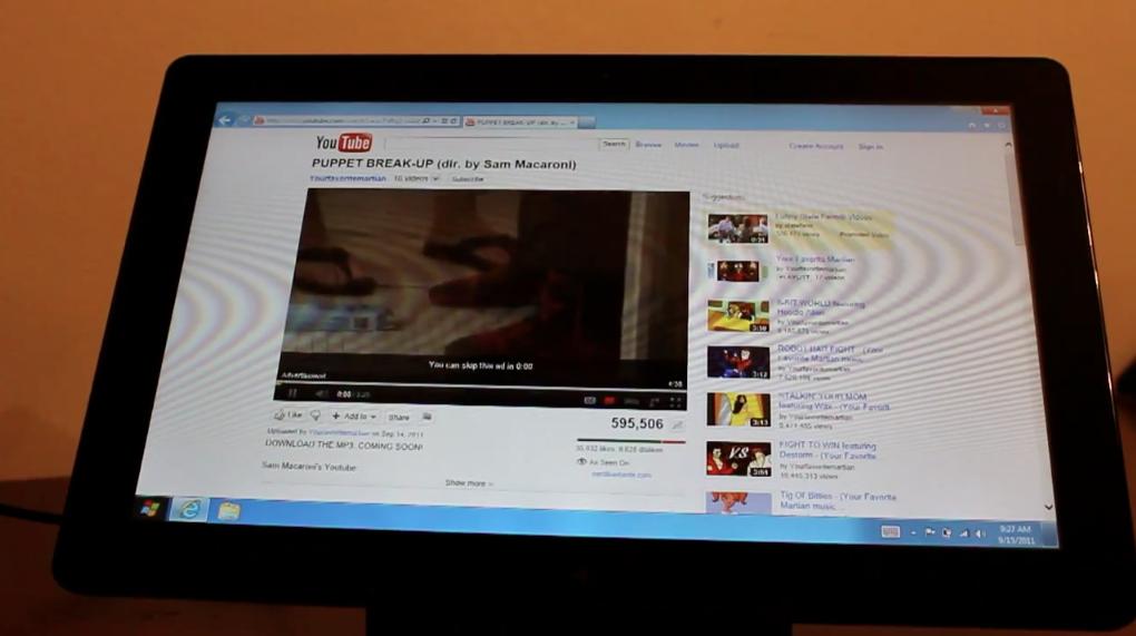 Adobe Flash demo on Windows 8