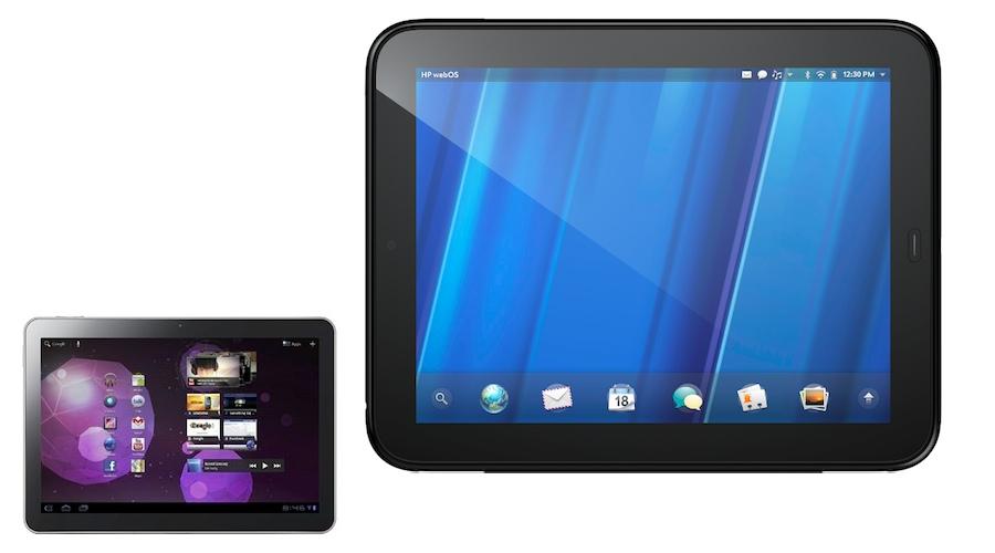 Touchpad vs. Galaxy Tab