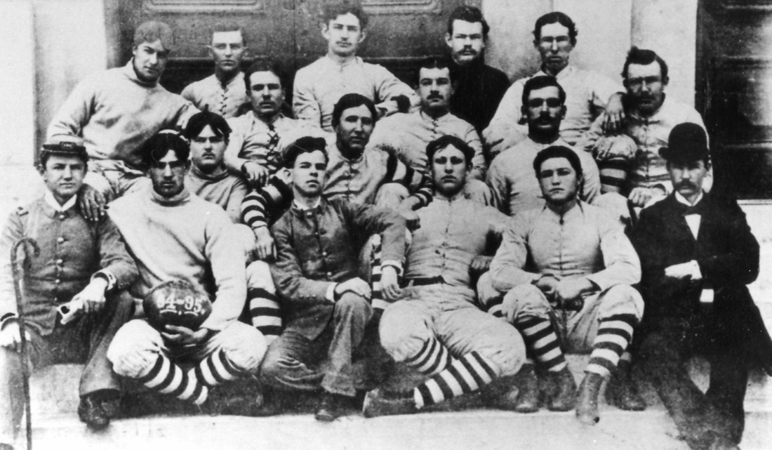 Texas A&M's 1894 football team, the school's first. Photo Cushing Memorial Library and Archives, Texas A&M University.