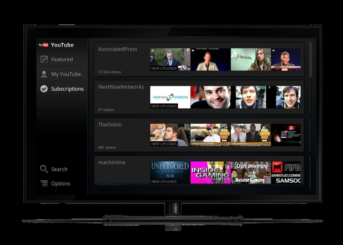 Google TV YouTube Update