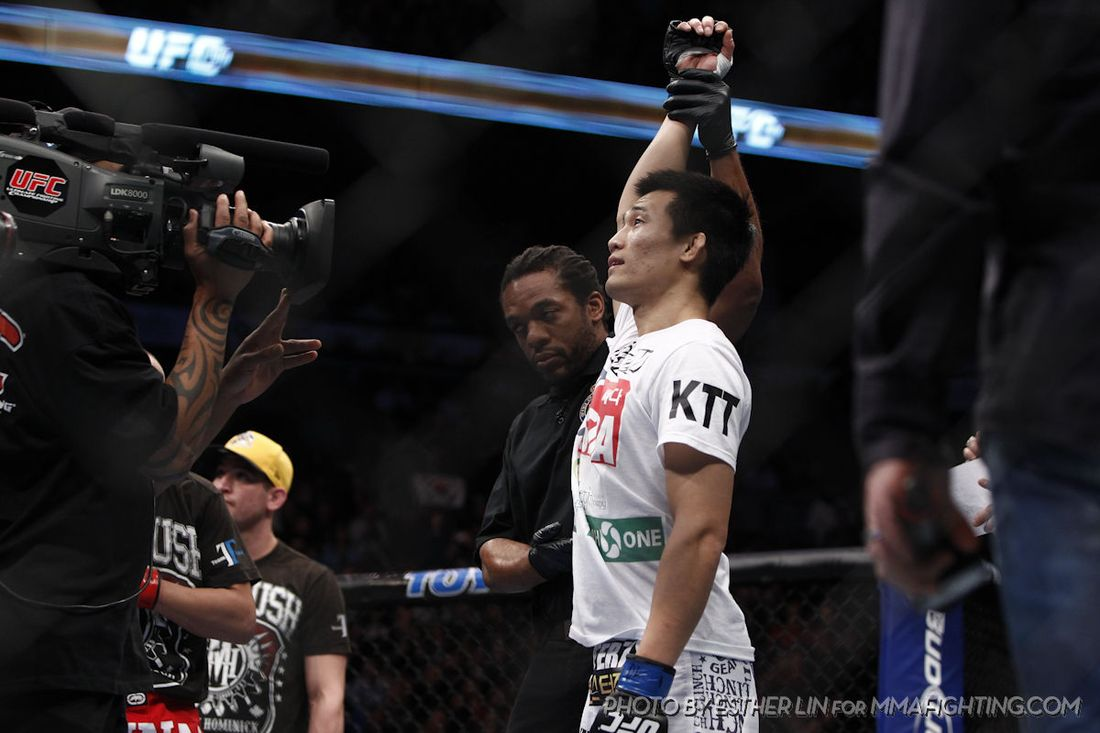"""Photo by Esther Lin for <a href=""""http://www.mmafighting.com/photos/"""" target=""""new"""">MMA Fighting</a>."""