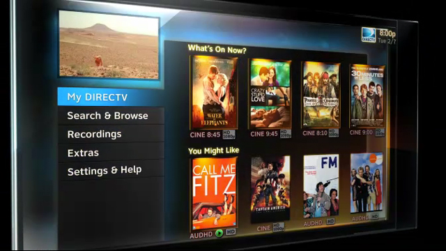 New DirecTV HD User Interface