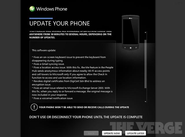 Windows Phone 8107 update