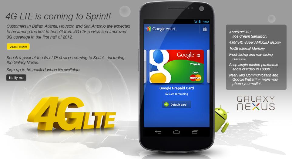 Sprint Galaxy Nexus Official