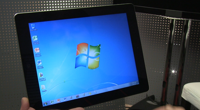 Windows running on iPad with OnLive