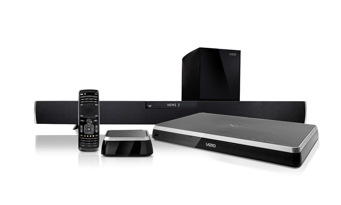 Vizio Blu-ray player, audio dock, soundbar
