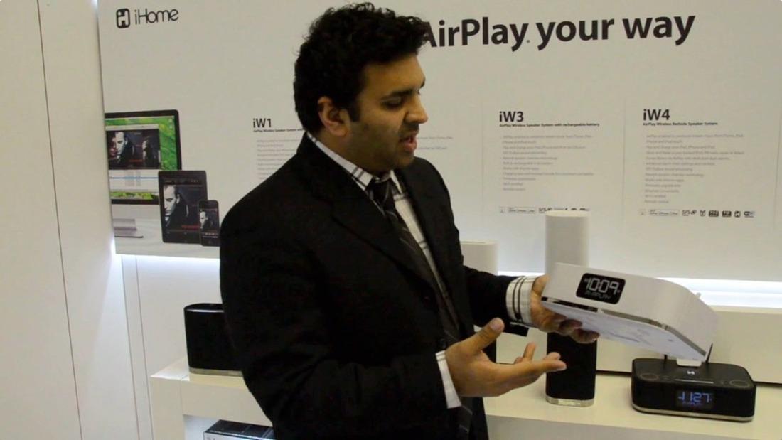 iHome AirPlay Speakers Hands-on Video
