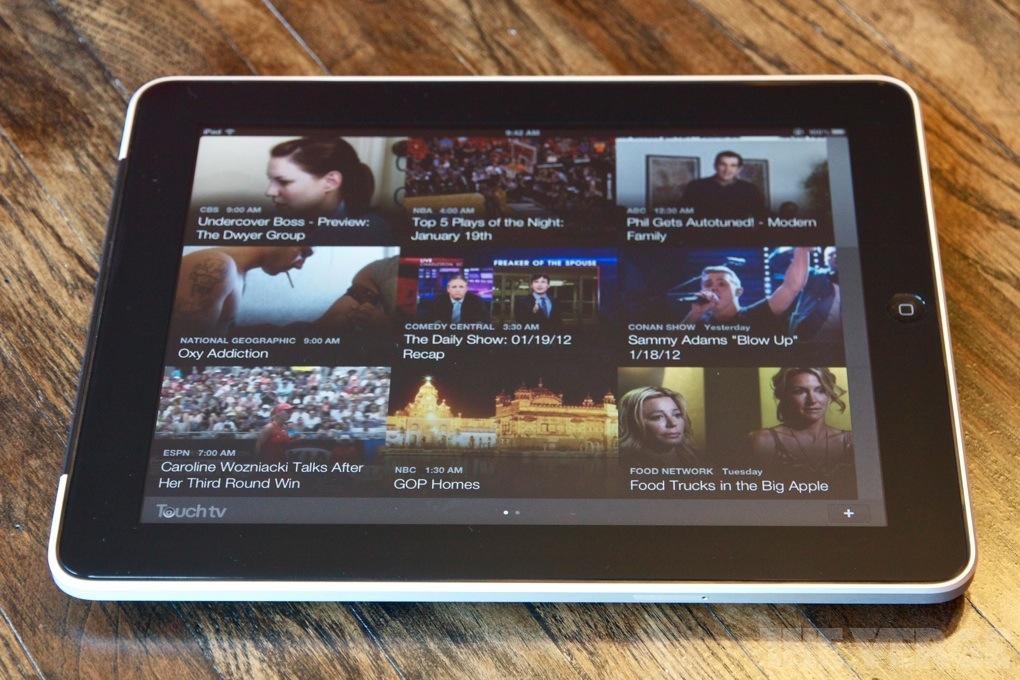 TouchTV iPad app