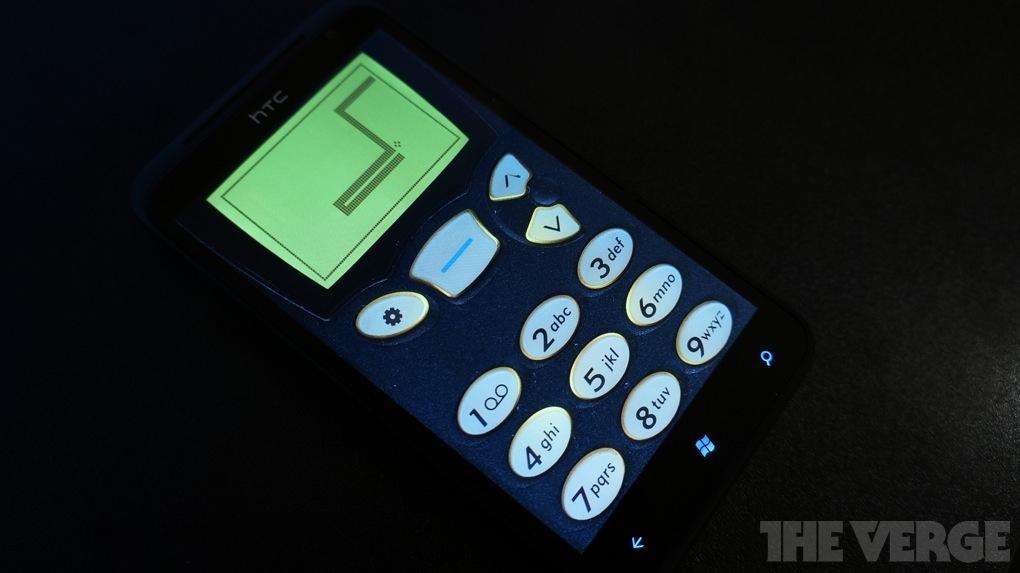 Snake on Windows Phone HTC Titan